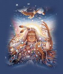 Bild Indianer mit Adler