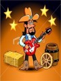 cowboy mit gitarre